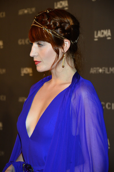 Braid of the Day: Florence Welch's Pretty Jewel-Accented Updo (+ Details on Her Dress!)
