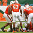 James Morgan Photos - Joe Jackson #99 of the Miami Hurricanes, Zach McCloud #53 and Shaquille Quarterman #55 of the Miami Hurricanes surround James Morgan #12 of the Florida International Golden Panthers in the second quarter during the game between the Miami Hurricanes and the Florida International Golden Panthers at Hard Rock Stadium on September 22, 2018 in Miami, Florida. - Florida International v Miami