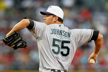 Josh Johnson Florida Marlins v Atlanta Braves