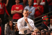 Head coach Billy Donovan of the Florida Gators reacts during the college basketball game against the Arizona Wildcats at McKale Center on December 15, 2012 in Tucson, Arizona. The Wildcats defeated the Gators 65-64.