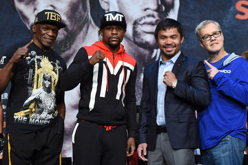 Floyd Mayweather Sr Floyd Mayweather Jr. v Manny Pacquiao - News Conference