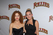 "Bernadette Peters and Lora Lee Gayer attend the ""Follies"" Broadway opening night at the Marquis Theatre on September 12, 2011 in New York City."