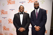 Former NFL players Willie Colon, and Chris Canty attend the Food Bank for New York City's Can Do Awards Dinner at Cipriani Wall Street on April 17, 2018 in New York City.