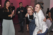 Chef Christina Tosi poses with Jena Derman during the Food Network & Cooking Channel New York City Wine & Food Festival Presented By Capital One - All About Cake Presented By PureWow Hosted By Christina Tosi of Milk Bar at Union West Events on October 13, 2018 in New York City.