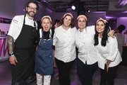 Chef Christina Tosi(C) poses with other chef's during the Food Network & Cooking Channel New York City Wine & Food Festival Presented By Capital One - All About Cake Presented By PureWow Hosted By Christina Tosi of Milk Bar at Union West Events on October 13, 2018 in New York City.