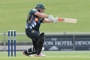 Jesse Ryder of Central Districts in action during the Ford Trophy one day match between Central Stags and Canterbury at McLean Park on December 27, 2015 in Napier, New Zealand.
