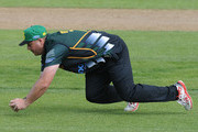 Jesse Ryder of Central Districts fields during the Ford Trophy one day match between Central Stags and Canterbury at McLean Park on December 27, 2015 in Napier, New Zealand.