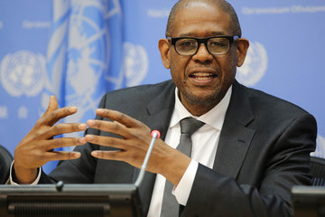 Forest Whitaker Actor and Sustainable Development Goals Advocate Forest Whitaker Attends A UN Press Briefing