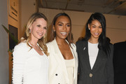 (L-R ) Surgeon Dr. Niamey Wilson, author Janet Mock and model Chanel Iman attend Forevermark Diamonds Females In Focus Photo Exhibition Event on December 6, 2018 in New York City.