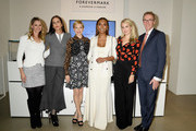 (L-R)  Dr. Niamey Wilson, Cristina Ehrlich, Michelle Williams, Janet Mock, Sophie Elgort and Forevermark President Charles Stanley attend Forevermark Diamonds Females In Focus Photo Exhibition Event on December 6, 2018 in New York City.
