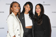 (L-R) Author Janet Mock, model Chanel Iman and actress Rosario Dawson attend Forevermark Diamonds Females In Focus Photo Exhibition Event on December 6, 2018 in New York City.