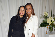 Author Janet Mock (L) and actress Rosario Dawson attend Forevermark Diamonds Females In Focus Photo Exhibition Event on December 6, 2018 in New York City.