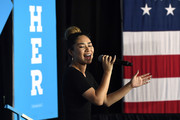 Singer/songwriter Jessica Sanchez performs before a speech by U.S. President Bill Clinton at a campaign event for Democratic presidential nominee Hillary Clinton at a College of Southern Nevada campus on September 14, 2016 in North Las Vegas, Nevada. Hillary Clinton is expected to be back on the campaign trail tomorrow after taking time off to recover from pneumonia.