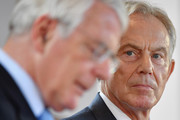 Sir John Major and Tony Blair make a joint EU appeal on June 9, 2016 in Derry, Northern Ireland. Former British Prime Ministers Sir John Major and Tony Blair travelled to Derry City in Northern Ireland warning that voting to leave the EU could 'jeopardise the unity' of the UK. They suggested that it may cause Scotland to re-visit an independence referendum and put Northern Ireland's 'future at risk'. Both politicians were instrumental in bringing peace to the region. The Vote Leave campaign has said the idea that a Brexit could threaten the Northern Ireland Peace Process was irresponsible.