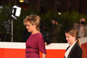 "Valeria Golino and Cristina Magnotti attend the red carpet of the movie ""Fortuna"" during the 15th Rome Film Festival on October 19, 2020 in Rome, Italy."