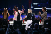 (L-R) American Idol judges Mariah Carey, Randy Jackson,  Nicki Minaj, and Keith Urban onstage during Fox's 'American Idol'Finale Results Show at Nokia Theatre L.A. Live on May 16, 2013 in Los Angeles, California.