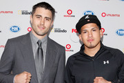 UFC fighters Carlos Condit and Anthony Pettis attend the Fox Hispanic Media Upfront at Ziegfeld Theatre on May 16, 2012 in New York City.