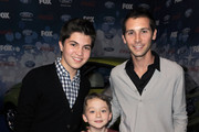 """(L-R) Actors Matthew Levy, Benjamin Stockham and executive producer Justin Berfield arrive at Fox's Meet the Top 12 """"American Idol"""" finalists held at Industry on March 11, 2010 in Los Angeles, California."""