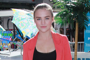 "Actress Maddie Hasson attends Fox's ""The Finder"" Challenge at Hollywood & Highland Courtyard on January 9, 2012 in Hollywood, California."