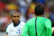 Wilson Palacios of Honduras is sent off by referee Sandro Ricci during the 2014 FIFA World Cup Brazil Group E match between France and Honduras at Estadio Beira-Rio on June 15, 2014 in Porto Alegre, Brazil.