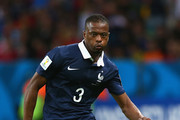 Patrice Evra of France controls the ball during the 2014 FIFA World Cup Brazil Group E match between France and Honduras at Estadio Beira-Rio on June 15, 2014 in Porto Alegre, Brazil.