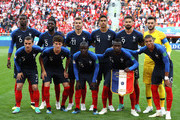 The France players pose for a team photo prior to the 2018 FIFA World Cup Russia group C match between France and Peru at Ekaterinburg Arena on June 21, 2018 in Yekaterinburg, Russia.