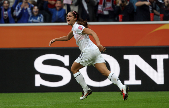 ad64b8561ea Alex Morgan s Goal Helps USA Defeat France in Women s World Cup Match