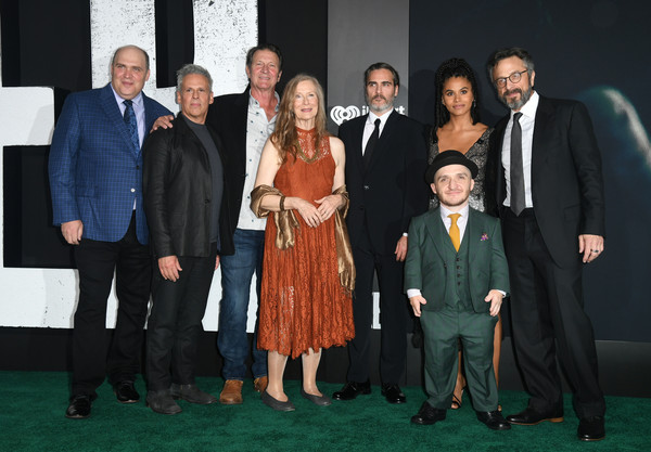Premiere Of Warner Bros Pictures 'Joker' - Red Carpet [event,premiere,suit,formal wear,tuxedo,team,red carpet,glenn fleshler,joaquin phoenix,zazie beetz,frances conroy,brett cullen,josh pais,warner bros pictures ``joker,premiere,premiere]