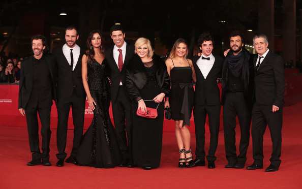 'Razzabastarda' Premiere - The 7th Rome Film Festival [red carpet,event,carpet,premiere,fashion,flooring,formal wear,little black dress,performance,razzabastarda,l-r,premiere - the 7th rome film festival,matteo taranto,sergio meogrossi,nadia rinaldi,carolina facchinetti,giovanni anzaldo,madalina ghenea,alessandro gassman]