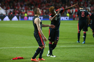 Franck Ribery David Alaba SL Benfica v FC Bayern Muenchen - UEFA Champions League Quarter Final: Second Leg