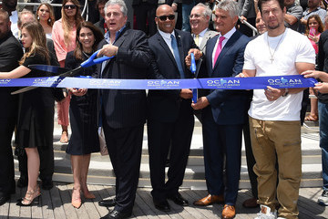 Frank Ruocco Mark Wahlberg Attends Ocean Resort Casino Opening Weekend Ribbon Cutting Ceremony