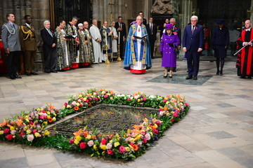 Frank-Walter Steinmeier The Queen Attends A Service At Westminster Abbey Marking The Centenary Of WW1 Armistice
