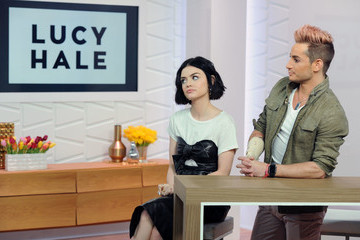 Frankie Grande Lucy Hale Appears on Amazon's 'Style Code Live'