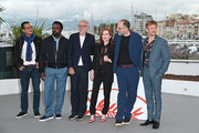 "Mauricio Zacharias, Ariyon Bakare, Pascal Greggory, Isabelle Huppert, Ira Sachs, Jeremie Renier attend the photocall for ""Frankie"" during the 72nd annual Cannes Film Festival on May 21, 2019 in Cannes, France."