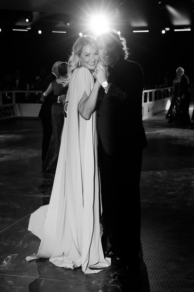 Ball Des Sports 2020 [ball des sports 2020,image,photograph,white,black,black-and-white,dress,gown,monochrome photography,monochrome,wedding,fashion,thomas gottschalk,franziska van almsick,dance,wiesbaden,germany,ball des sports 2020,rheinmain congresscenter,gala,wedding reception,wedding dress,bride,wedding,photography,bridegroom,snapshot,gown,photo shoot,haute couture]