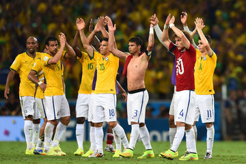 Fred David Luiz Brazil v Colombia: Quarter Final - 2014 FIFA World Cup Brazil