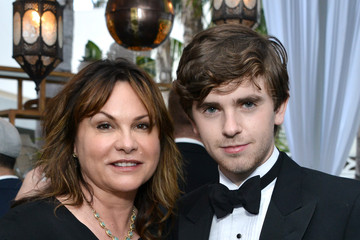 Photo of Freddie Highmore & his  Mother  Sue Latimer