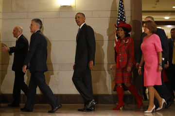 Frederica Wilson President Obama Meets With Democratic Lawmakers On Capitol Hill