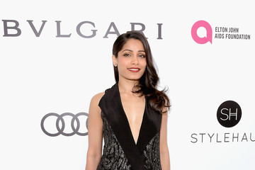 Freida Pinto 25th Annual Elton John AIDS Foundation's Oscar Viewing Party With Cocktails by Clase Azul Tequila and Chopin Vodka