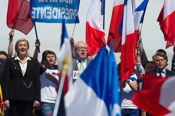 Gilbert Collard French Far Right Party 'Front National' May Day Demonstration In Paris
