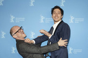"""(L-R) Markus Schleinzer and Noah Saavedra pose at the Netflix premiere of """"Freud"""" during the 70th Berlinale International Film Festival Berlin at Zoo Palast on February 24, 2020 in Berlin, Germany."""