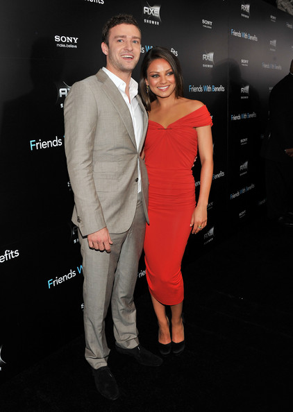 "Justin Timberlake and Mila Kunis attend the ""Friends with Benefits"" premiere at Ziegfeld Theater on July 18, 2011 in New York City."