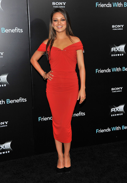 "Mila Kunis attends the ""Friends with Benefits"" premiere at Ziegfeld Theater on July 18, 2011 in New York City."
