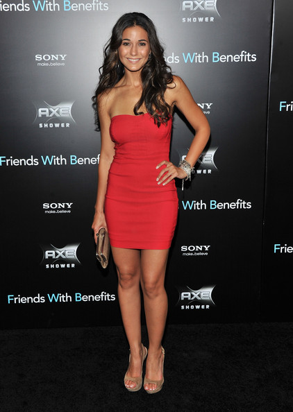 "Emmanuelle Chriqui attends the ""Friends with Benefits"" premiere at Ziegfeld Theater on July 18, 2011 in New York City."