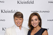 Kleinfeld Bridal Fashion Director Terry Hall and QVC host Lisa Robertson attend front row at The Mark Zunino For Kleinfeld 2015 Runway Show at Kleinfeld on October 14, 2014 in New York City.