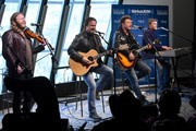 (L-R) Recording Artists Donnie Reis, Larry  Stewart, Tim Rushlow and Richie McDonald of The Frontmen perform at SiriusXM Nashville Studios at Bridgestone Arena on March 21, 2018 in Nashville, Tennessee.