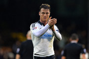 Scott Parker of Fulham FC celebrates after the Sky Bet Championship match between Fulham and Charlton Athletic at Craven Cottage on February 20, 2016 in London, United Kingdom.