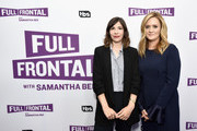 Actor Carrie Brownstein (L) and Executive producer/host Samantha Bee at the Full Frontal with Samantha Bee FYC Event 2017 LA at the Samuel Goldwyn Theater on May 23, 2017 in Beverly Hills, California. 27026_002