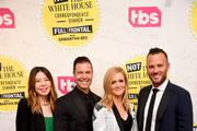 """(L-R) VP Original Programming, TBS Development Jennifer Kim, EVP, Original Programming TBS Brett Weitz, Samantha Bee, and EVP, Original Programming TBS Thom Hinkle attend """"Full Frontal With Samantha Bee"""" Not The White House Correspondents Dinner on April 26, 2019 in Washington, DC. (Photo by Dimitrios Kambouris/Getty Images for TBS) 558302"""