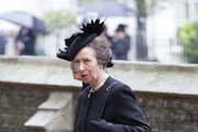 Princess Anne, Princess Royal arrives for the funeral service of Patricia Knatchbull, Countess Mountbatten of Burma at St Paul's Church in Knightsbridge on June 27, 2017 in London, England.